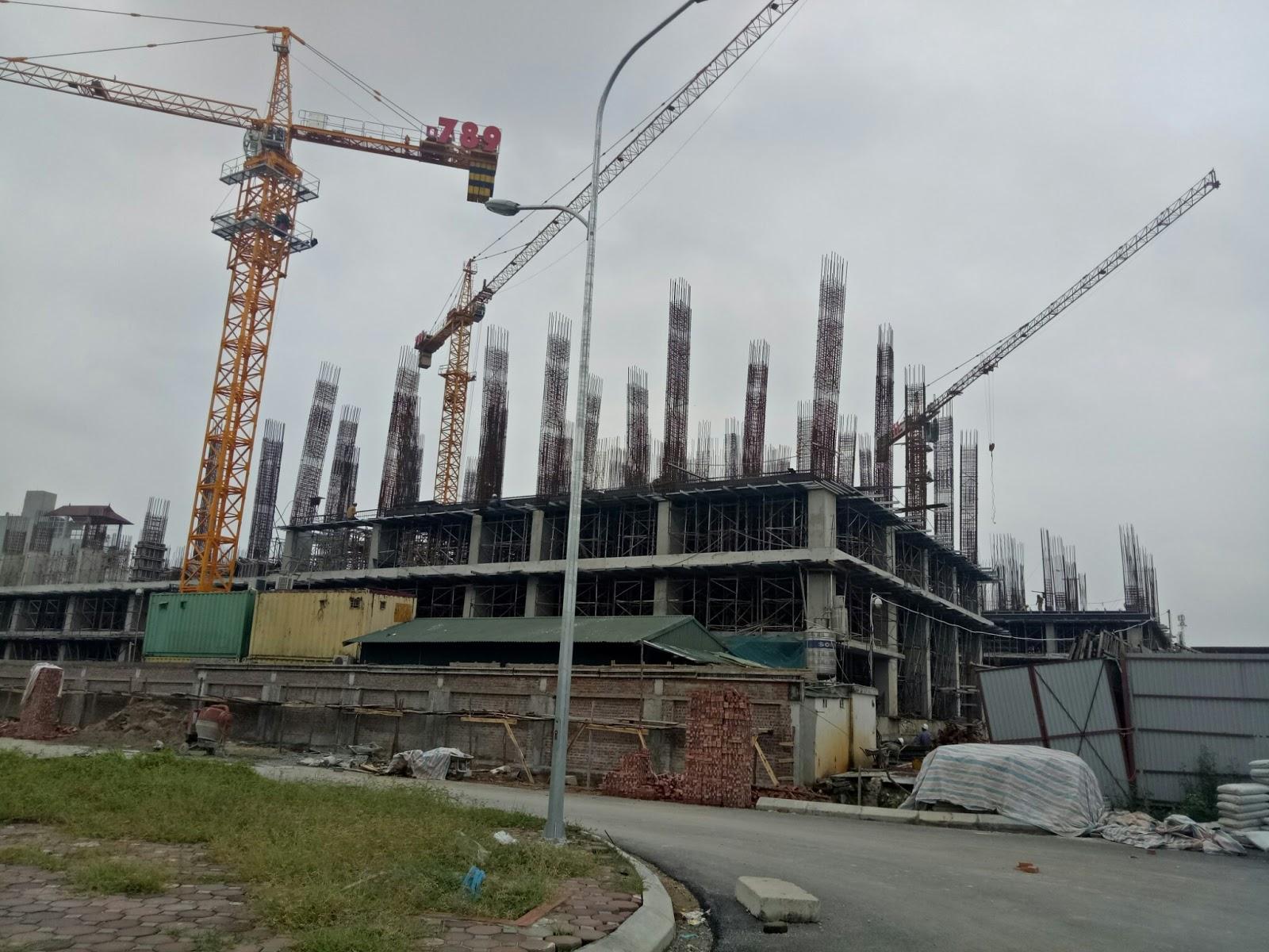 Cập nhật tiến độ xây dựng dự án Chung cư 789 Xuân Đỉnh Tháng 10/2016