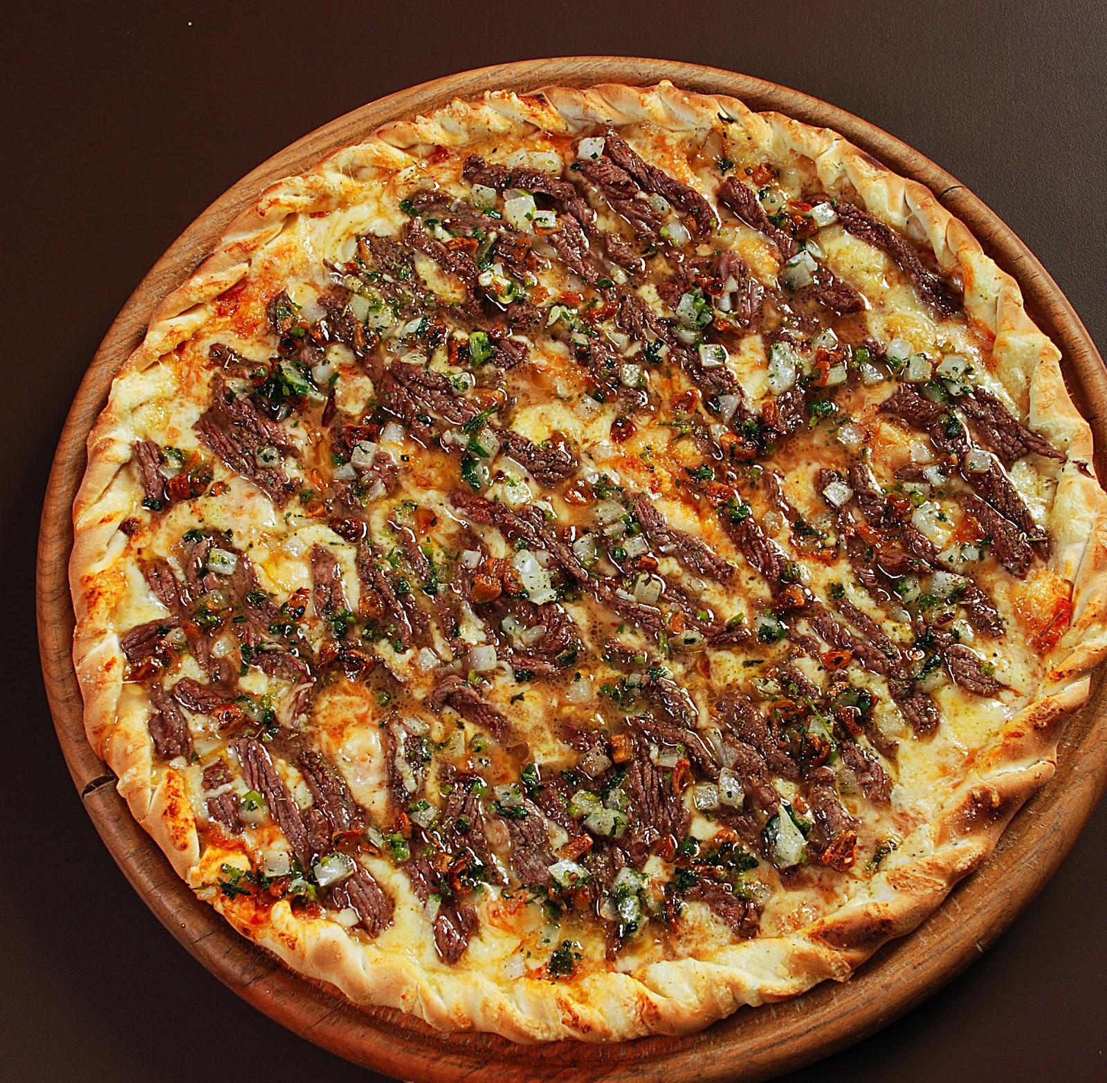 marian guimaraes emblog Pizza de Picanha ao Alho e leo