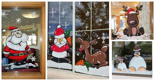 Cositasconmesh manualidades tipsbelleza google for Decoracion de navidad para ventanas y puertas