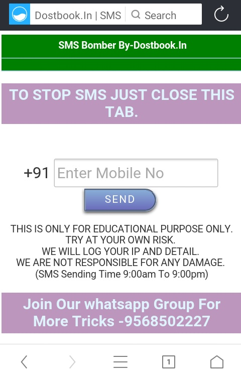 Bomber whatsapp sms SMS Bomber