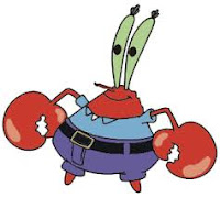 The character of Mr. Krabs in SpongeBob movie