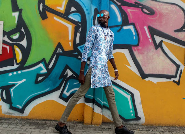 Tallest male model in Nigeria celebrates his birthday with inspiring message