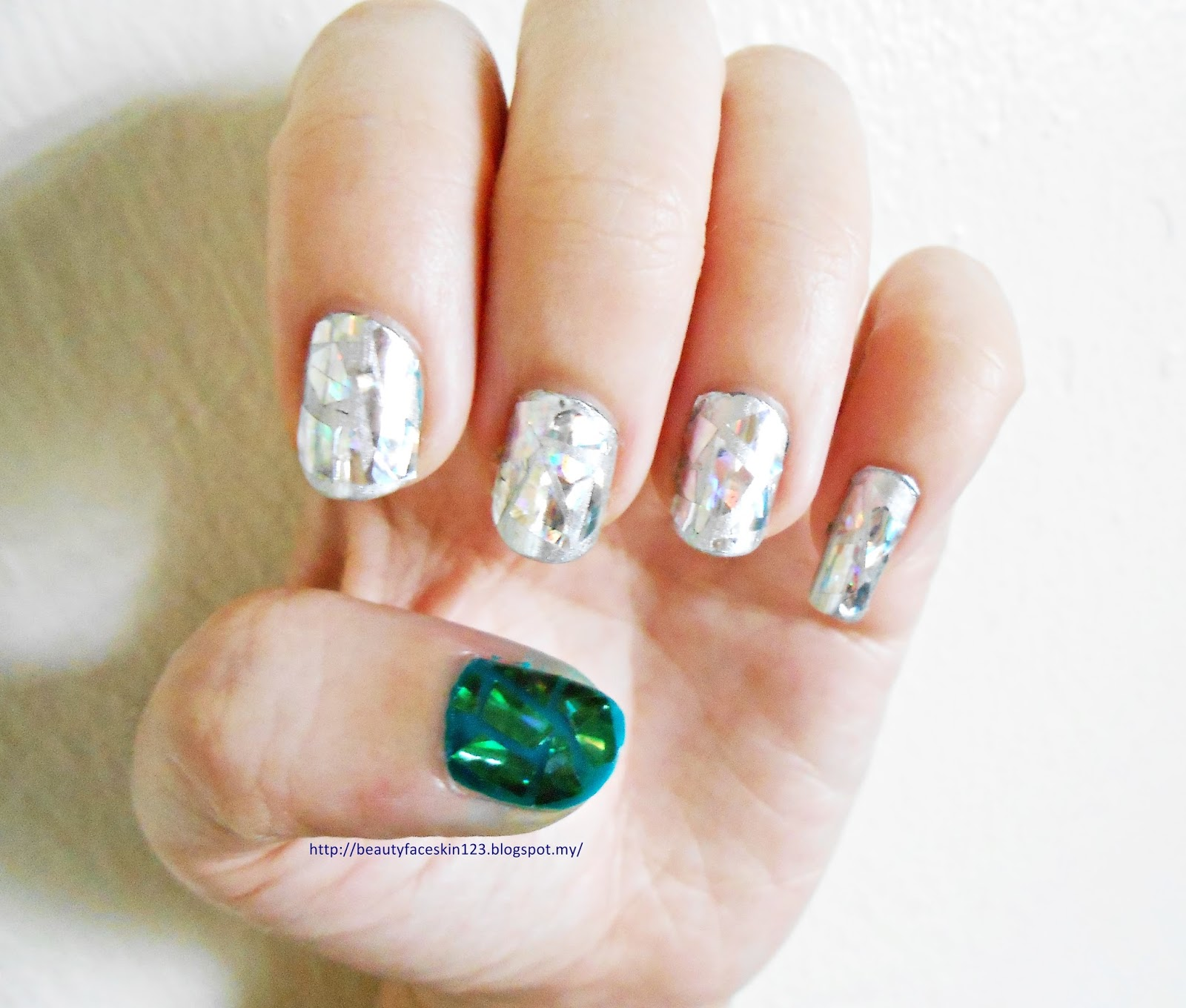 Great Skinlife Easy Shattered Glass Nail Art Tutorial