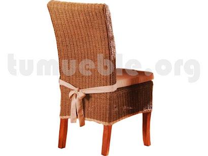 silla comedor en rattan j995-81