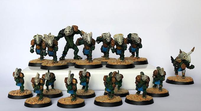 Lizardmen team finished