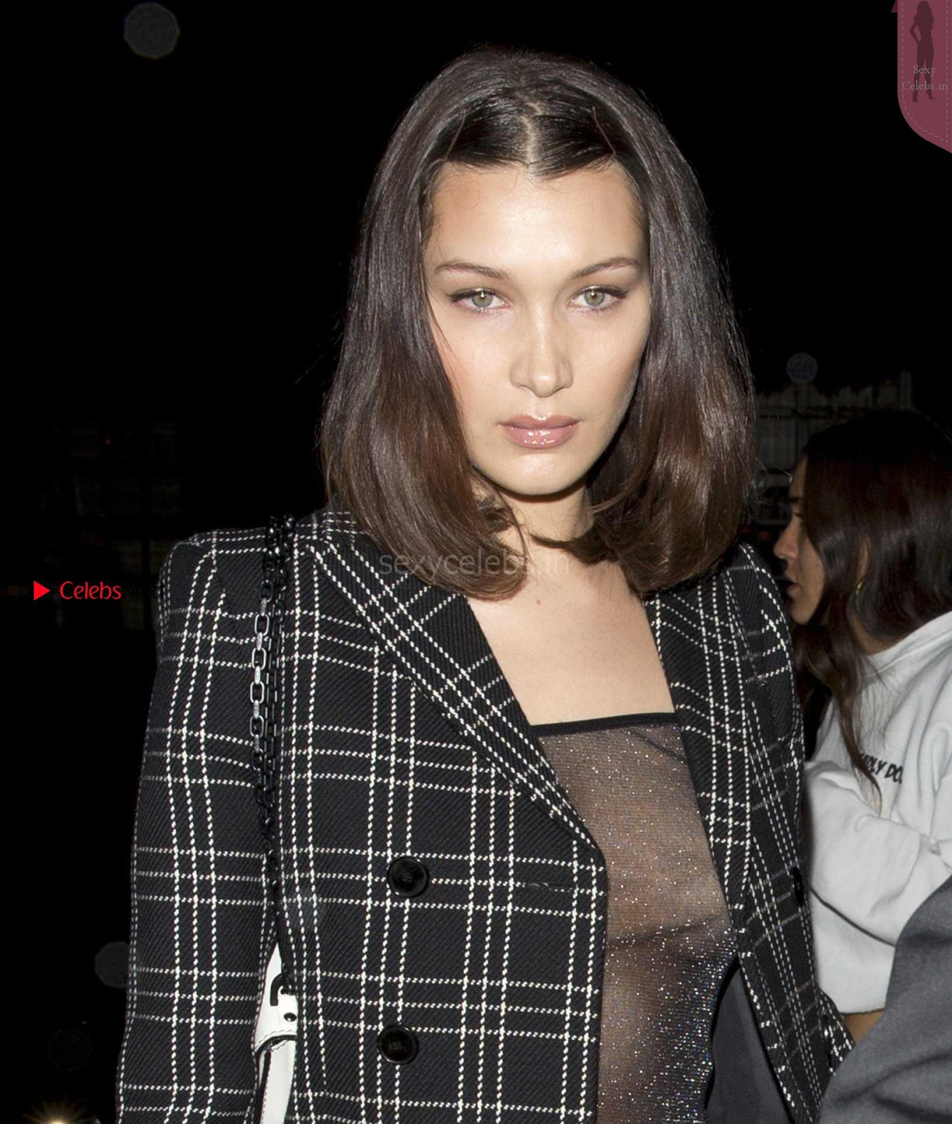 Bella Hadid Showing off her tits in transparent top in Dubai  ~ SexyCelebs.in Exclusive