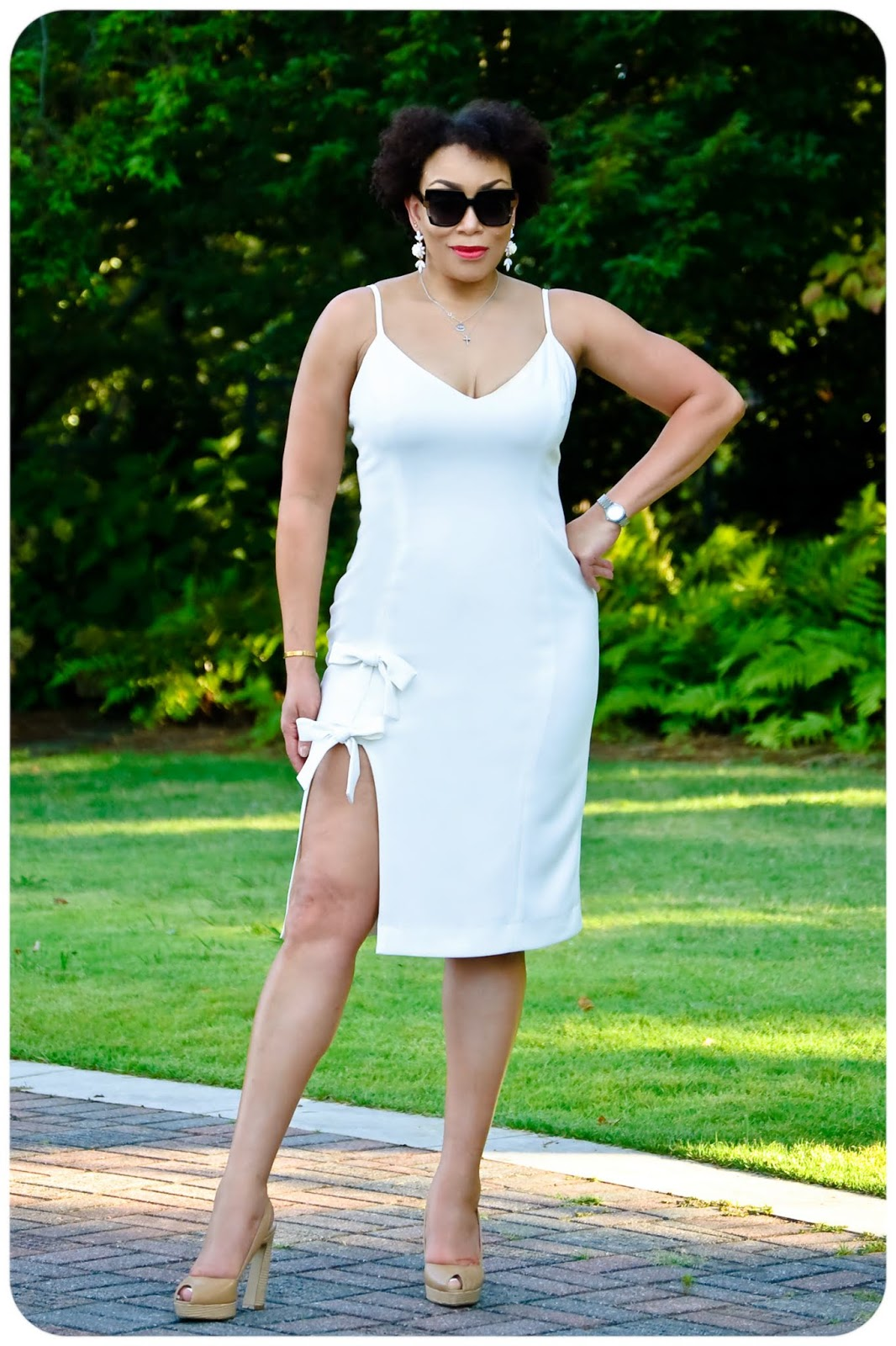 DIY White Bow Dress - Erica Bunker DIY Style!