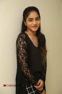 Actress Punarnavi Bhupalam Stills in Black Dress at Pittagoda Press Meet  0003.JPG