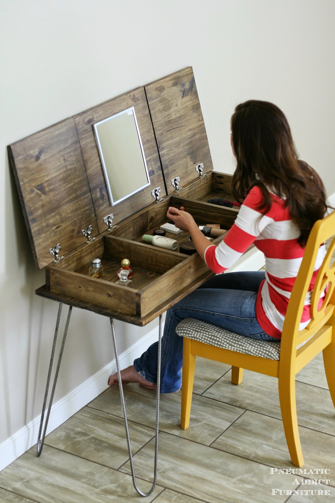 Hairpin Make Up Vanity Building Plans And Giveaway