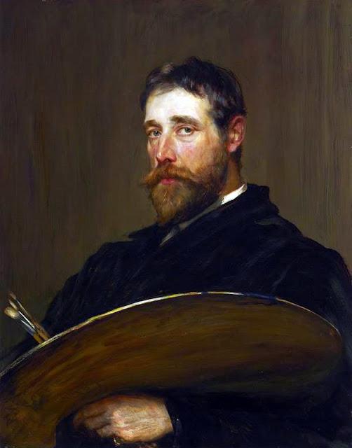 James Campbell Noble, Self Portrait, Portraits of Painters, Fine arts, James Campbell , Portraits of painters blog, Paintings of James Campbell , Painter James Campbell