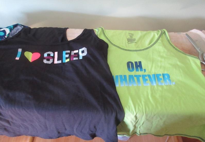 f1c3ee4634fe91 In Walmart in WV I scored some clearance clothing too....... Sleep tank tops  ...
