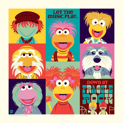 Down At Fraggle Rock Screen Print by Dave Perillo x Bottleneck Gallery