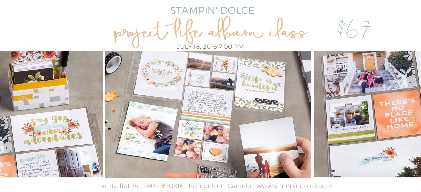 Stampin Dolce Project Life Memory Album Class