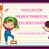 Evaluación 1er Trimestre 2° Primaria Ciclo Escolar 2018-2019.