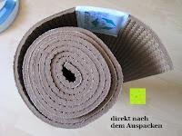 Rolle: Jute-Yogamatte »Sampati Jute« / High Quality Matte aus hochwertigen Jutefasern und ECO-PVC. Atmungsaktiv, schadstofffrei und sehr robust. Ideal für häufige Yogaübungen. Maße: 183 x 61 x 0,5cm, in verschiedenen Farben erhältlich
