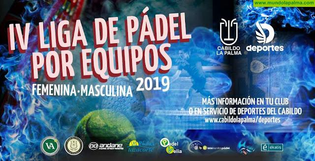 El Servicio de Deportes abre el plazo de inscripción en la IV Liga Insular de Pádel de La Palma