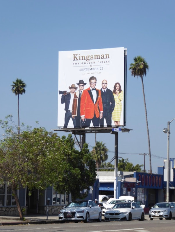 Kingsman Golden Circle billboard