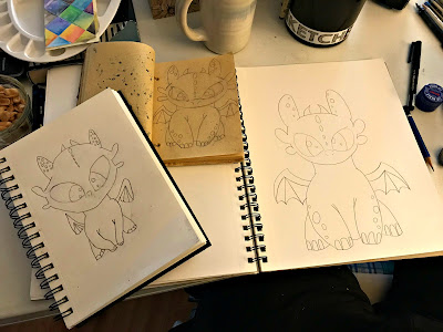 February 10, 2018 Spending a wonderful day drawing together