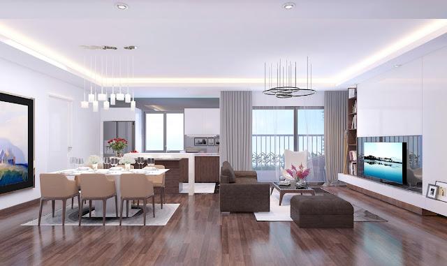 Phòng khách căn hộ 2 phòng ngủ Imperia Eden Park