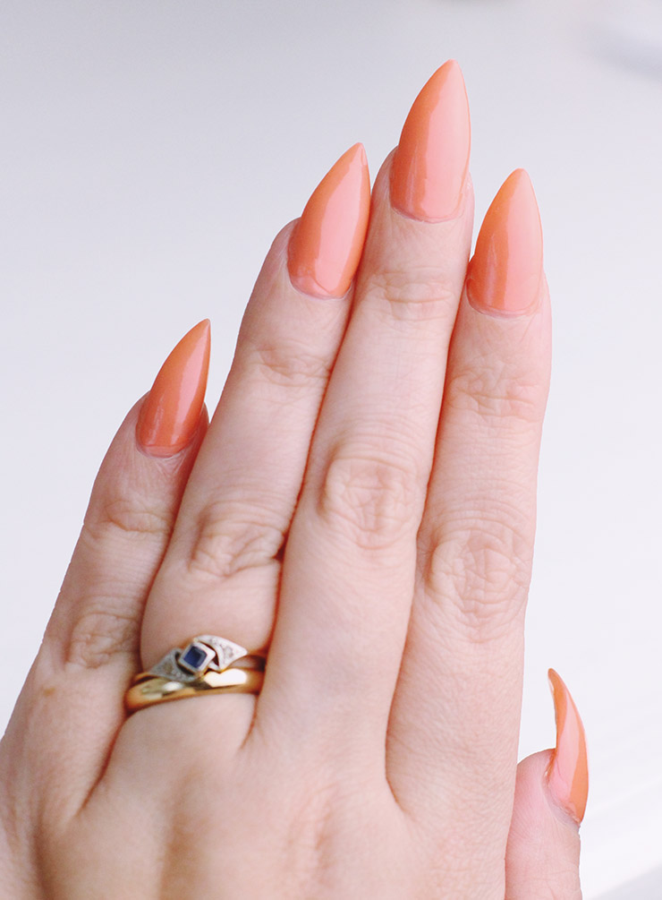 Topshop Pink is the Colour Orange Coral Nail Varnish Swatch