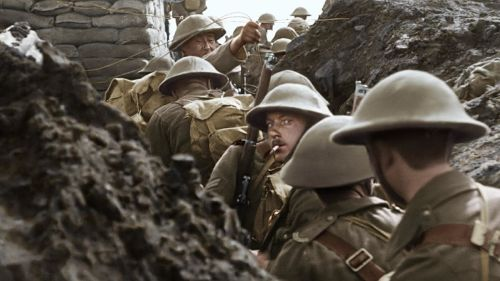 British soldiers in the trenches