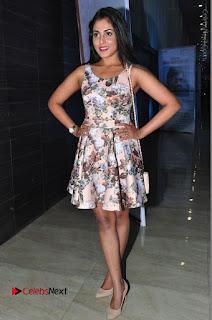 Actress Madhu Shalini Stills in Floral Short Dress at RGV Shiva to Vangaveeti Event  0191.JPG