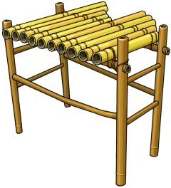 ベトナムのクロンプット Vietnamese musical instruments