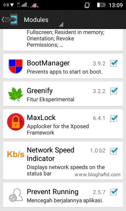 Aktifkan Module Xposed