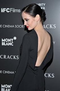Eva Green Opened Back Black Outfit