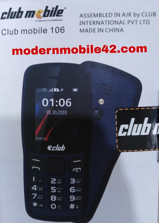 club mobile 106 flash file
