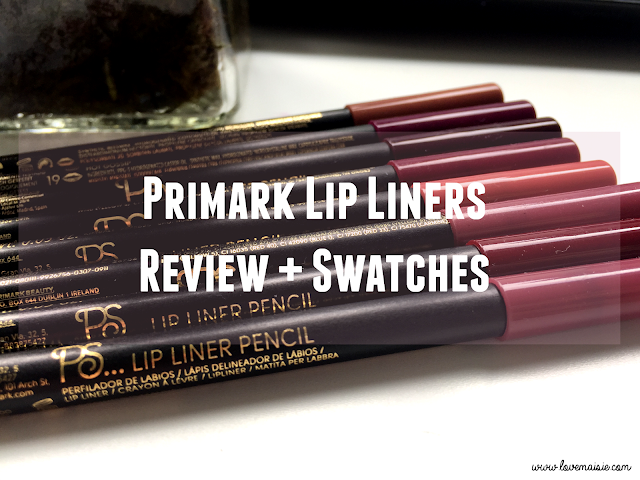 Primark Lip Liners | Review + Swatches | 8 Shades | Love, Maisie