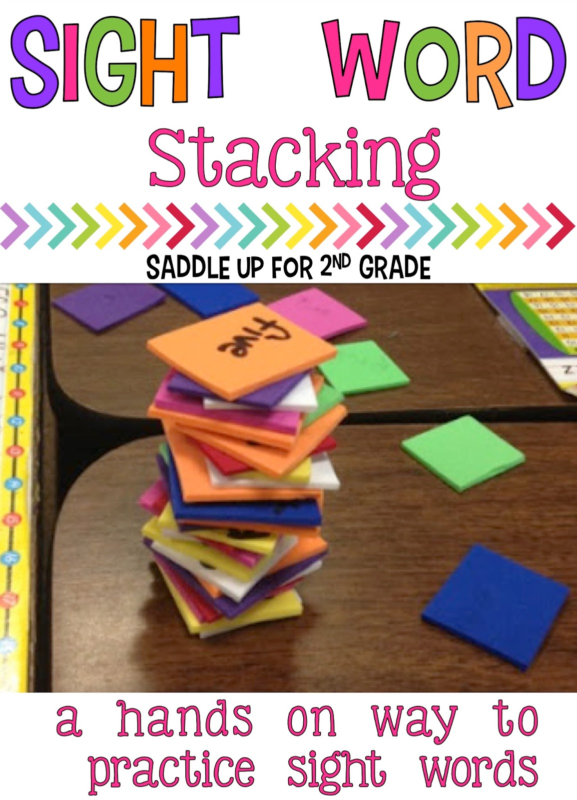 Sight Word Stacking Freebie