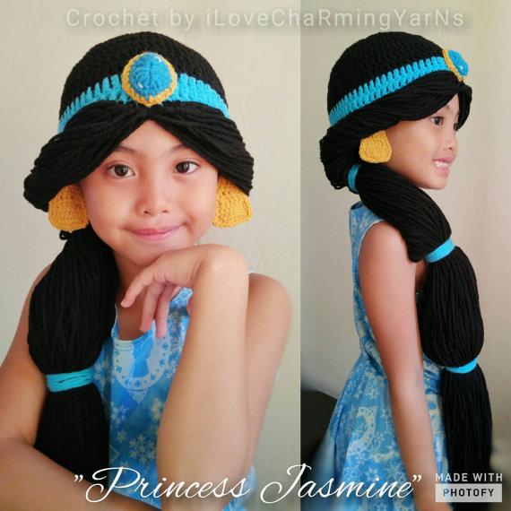 Crochet Princess Jasmine Doll Amigurumi, Design & Craft, Handmade ... | 570x570