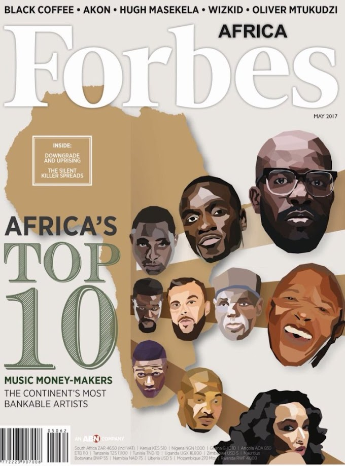 Sarkodie ranked 9th in Forbes Africa's list of Top 10 African Musicians (Most Bankable Artists)