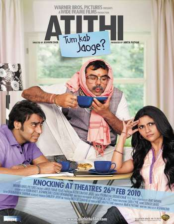 Poster Of Atithi Tum Kab Jaoge 2010 Hindi 400MB DVDRip 720p ESubs HEVC Watch Online Free Download Worldfree4u