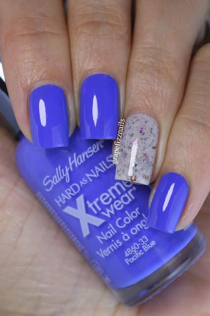 Sally Hansen Pacific Blue Glam Polish Shell No!