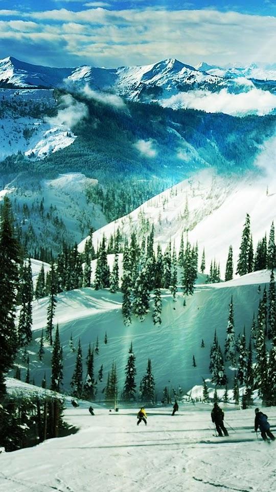 Ski Slope Paradise Winter Landscape  Galaxy Note HD Wallpaper