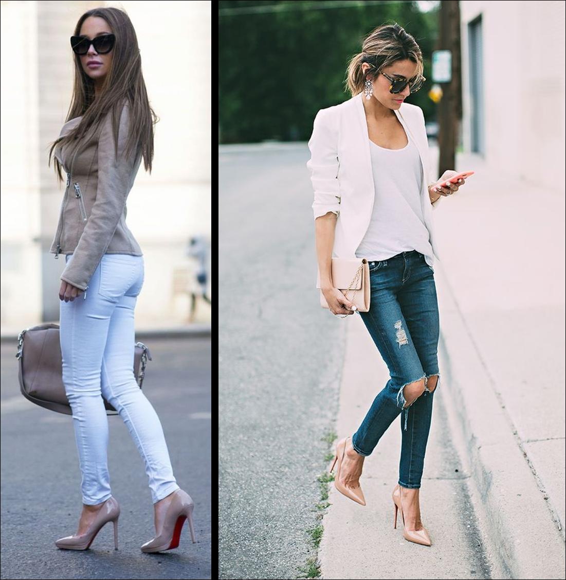 Con jeans y colores claros se ven súper bonitos pero también los podemos  combinar con prendas en colores oscuros!