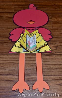 The Little Red Hen - Beginning/Middle/End 3D Hen Craft 3