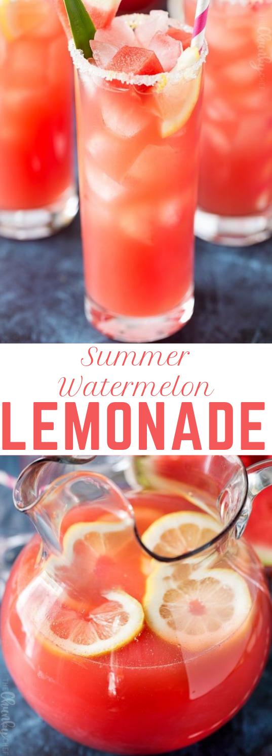 SUMMER WATERMELON LEMONADE #drink #watermelon
