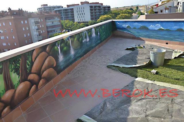 graffiti terraza Barcelona