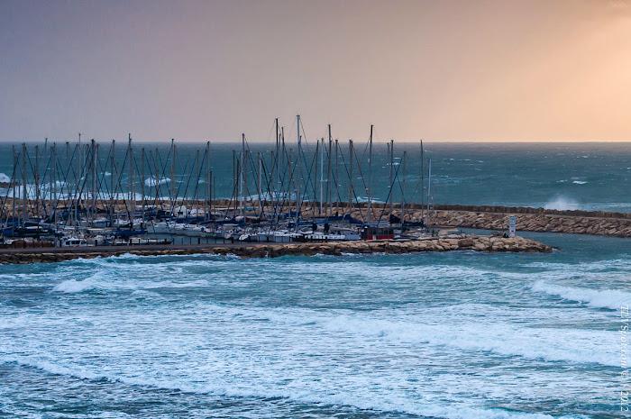 Tel Aviv Sunset Storm 008 Hilton Beach: The Storming Sea Tel Aviv Photos Art Images Pictures TLVSpot.com