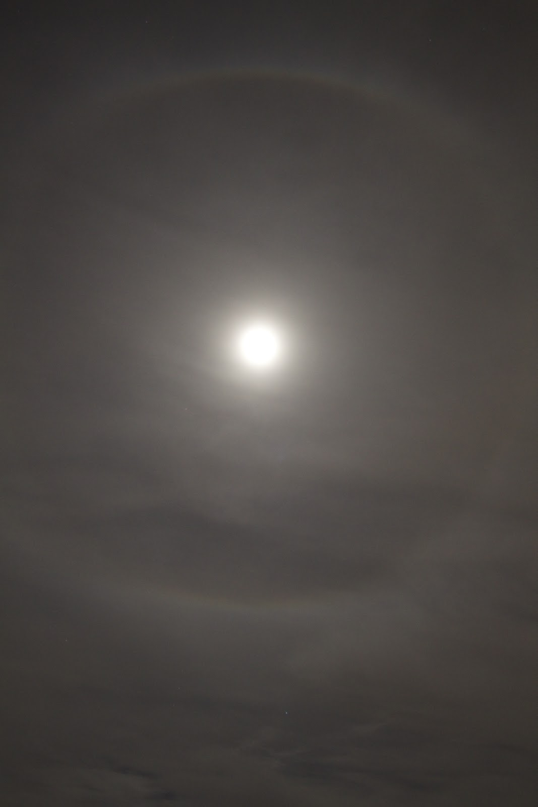 ring around moon tonight halo