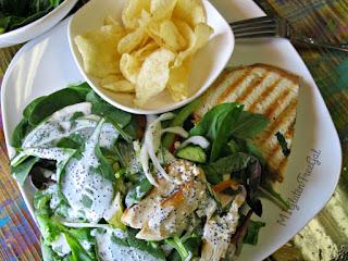 Sambuca Cafe Salad Sandwich and Chips