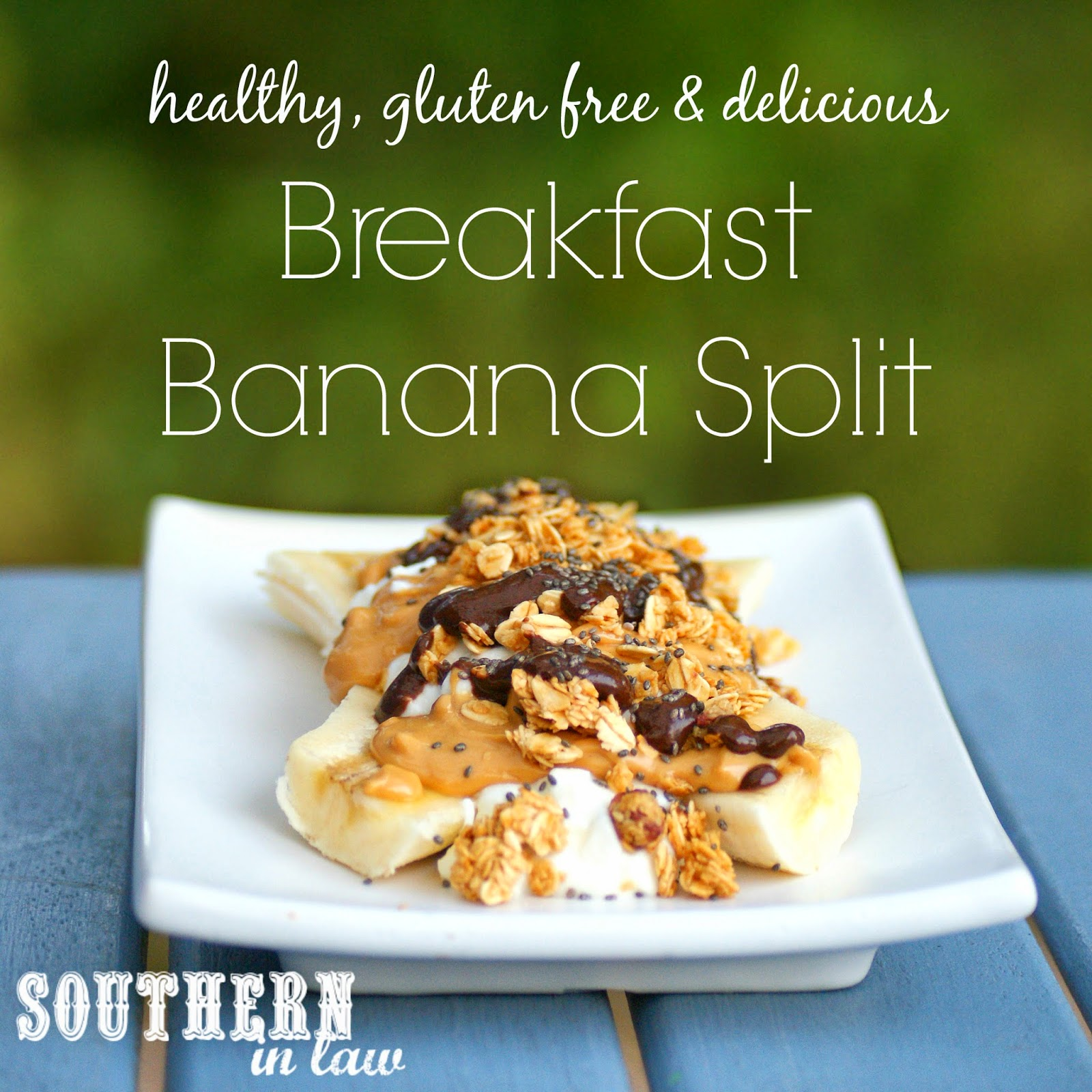 Healthy Banana Split Recipe - Gluten free, low fat, clean eating friendly, sugar free