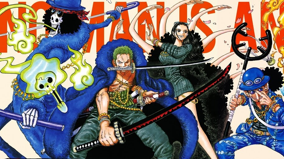 Brook, Zoro, Nico Robin, Usopp, One Piece, 4K, #6.7