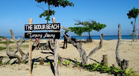 pantai tanjung lesung di banten
