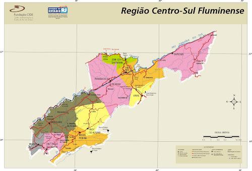 Mapa Região Centro-Sul Fluminense - Rio de Janeiro
