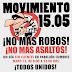 Continúa en pie 'Movimiento 15.05 no más robos'