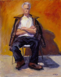 """painting by Mincu ... titled """"Patient Man"""""""